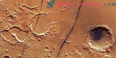 Свежа марсианска тектоника: дълбоки разломи на Червената планета