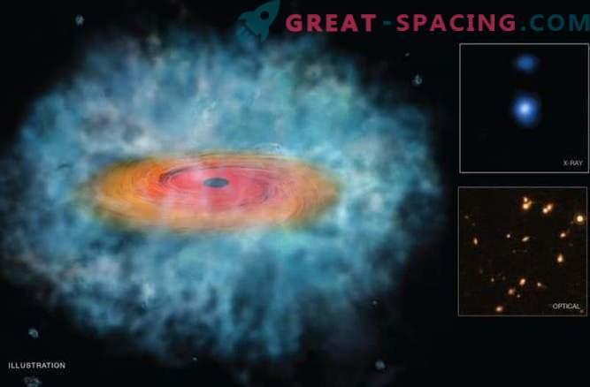 Свиващи се космически облаци пораждат чудовищни черни дупки