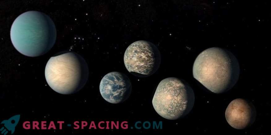 Може да има прекалено много вода на екзопланети TRAPPIST-1
