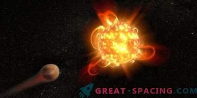 Punaste kääbuste võimsad välgud ohustavad planeete