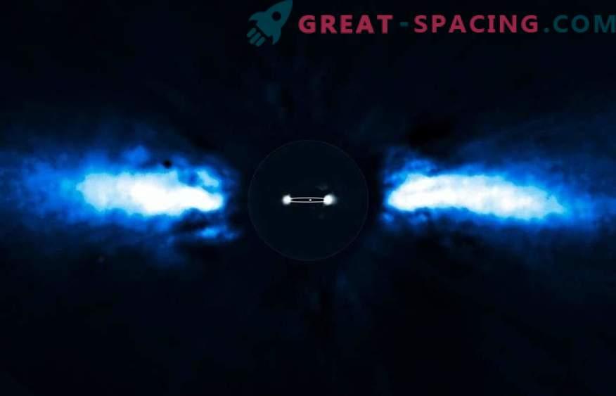 Exocoms се върти около новородена звездна система