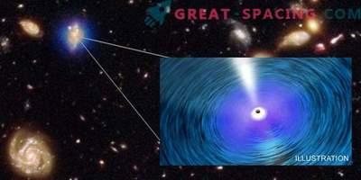 Свръхмасивни черни дупки надхвърлят своите галактики