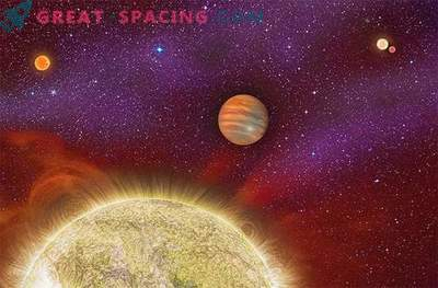 Масивна екзопланета, възникнала в четворната звездна система