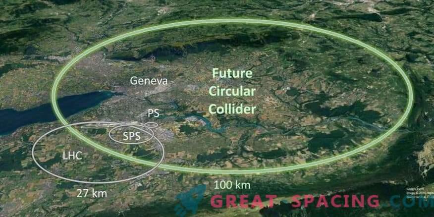 По-голям от големия адронен ускорител. Какво е замислена физика?
