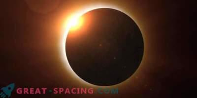 Компютърен модел на предстоящото слънчево затъмнение