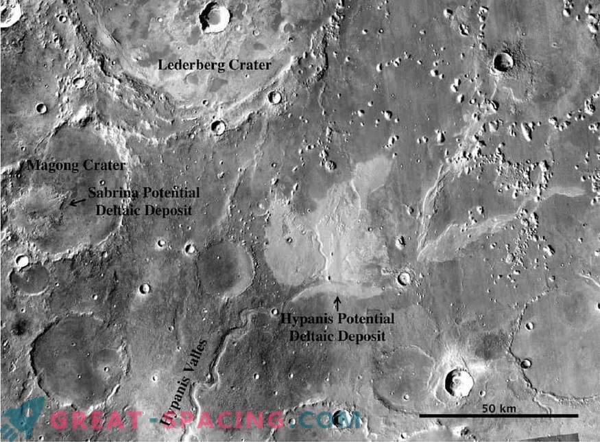 Друг аргумент в полза на влажно марсианско минало! Водите ли речните канали в океана?