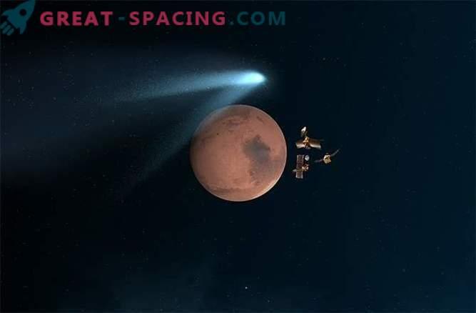 Марсианският космически кораб съобщава за близкото им среща с комета