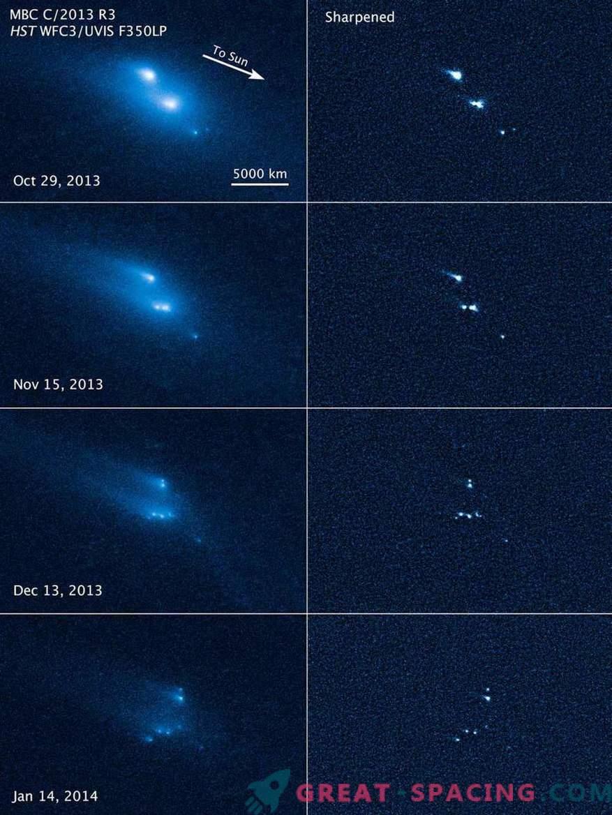 Хъбъл стана свидетел на загадъчния срив на астероид