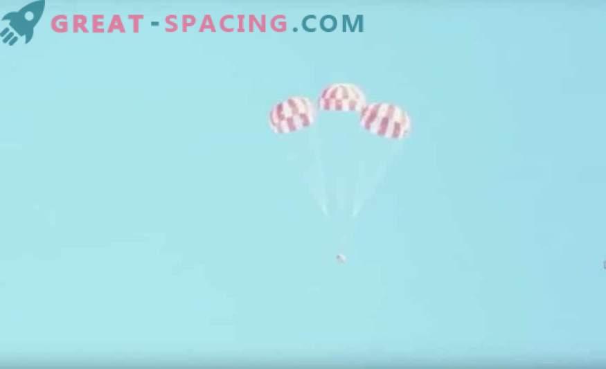 Орион преминава последния парашутен тест преди лунен полет