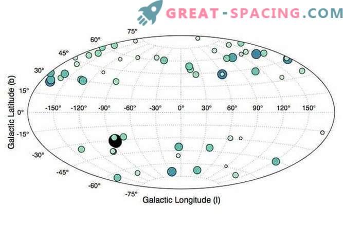 Карта на галактиката - червените джуджета на Млечния път