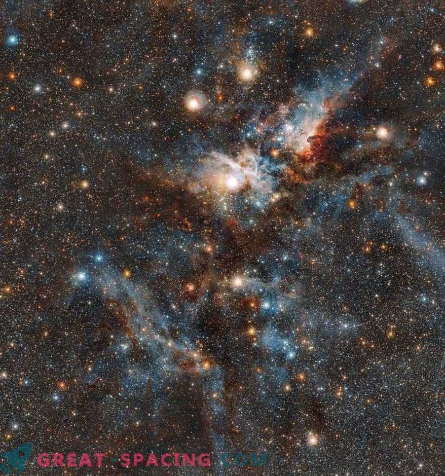 Кървавата битка между звездите и праха в мъглявината Carina