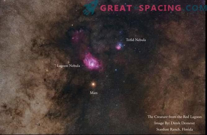 Марс и мъглявини в зашеметяваща фотография от нощното небе