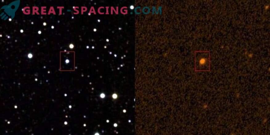 Чуждестранната структура се припокрива със звездата?