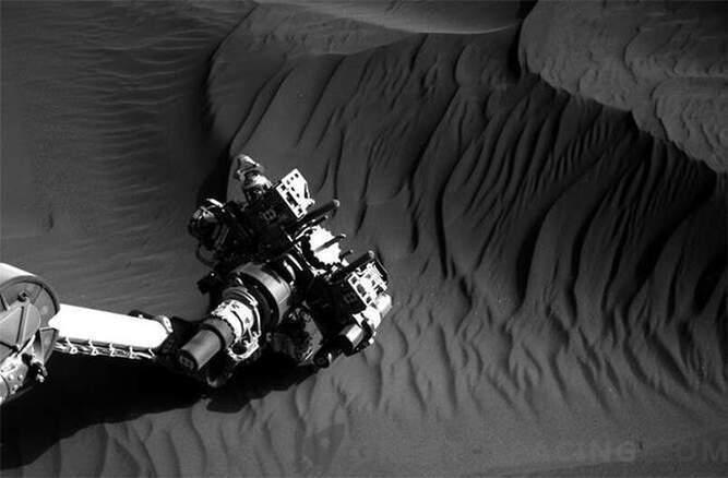 Любопитство, изследващо дюните на Марс: Снимки