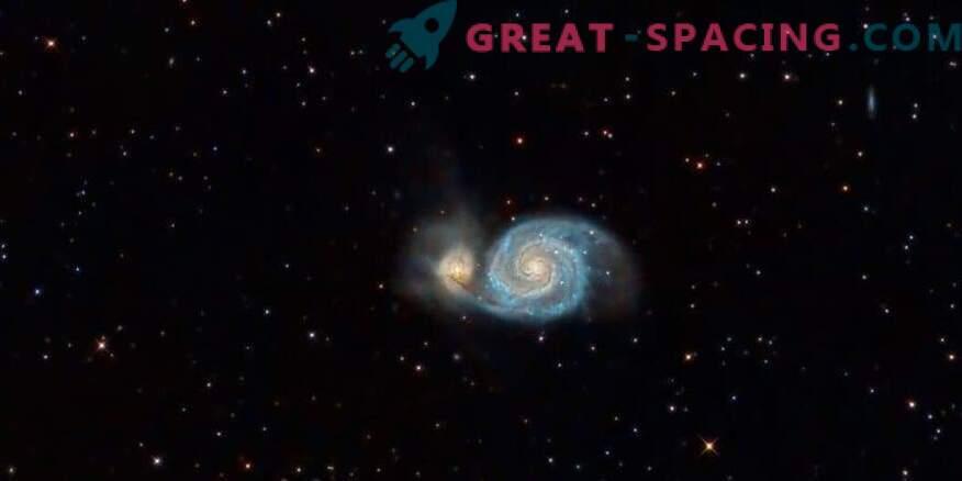 В галактиката с водовъртеж е намерен гигантски йонизиран облак водород