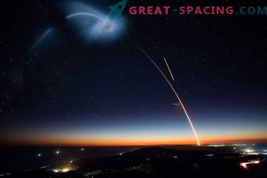 Генерирането на малки ракети се пуска в космоса.